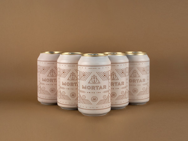 Artistry meets masonry in Mortar, a brewery brand.
