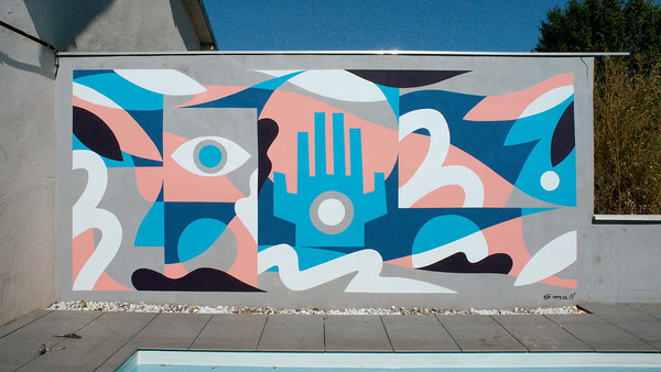 Swimming Pool mural painting by Small Studio