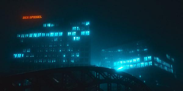 Hamburg Noir, night street photography